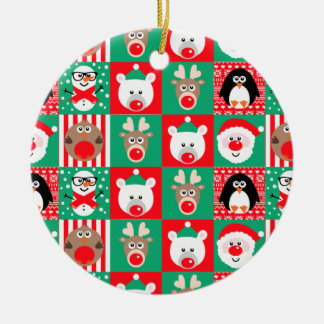 Cute Christmas Xmas Character Tree Decoration