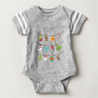 Cute Christmas Xmas Hanging Decoration Baby Bodysuit