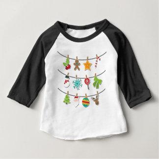 Cute Christmas Xmas Hanging Decoration Baby T-Shirt