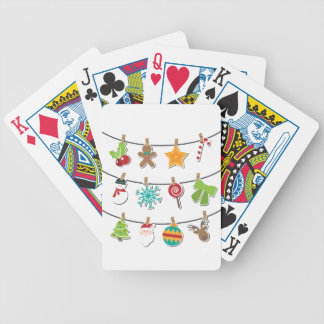 Cute Christmas Xmas Hanging Decoration Bicycle Playing Cards