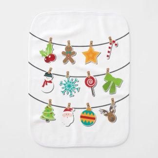 Cute Christmas Xmas Hanging Decoration Burp Cloth