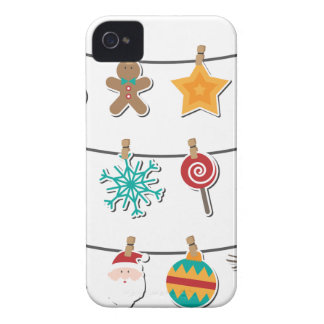 Cute Christmas Xmas Hanging Decoration iPhone 4 Case