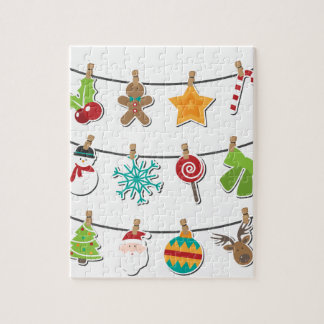 Cute Christmas Xmas Hanging Decoration Jigsaw Puzzle