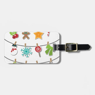Cute Christmas Xmas Hanging Decoration Luggage Tag