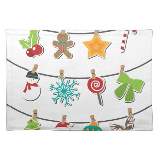 Cute Christmas Xmas Hanging Decoration Placemat