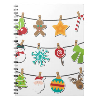 Cute Christmas Xmas Hanging Decoration Spiral Notebook
