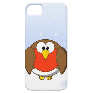 Cute, Chubby Little Cartoon Robin Redbreast Bird Barely There iPhone 5 Case