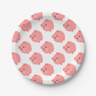 Cute Chubby Pig Party Plates