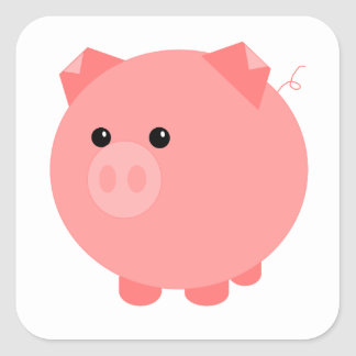 Cute Chubby Pig Stickers