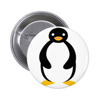 Cute chubby simple penguin 6 cm round badge