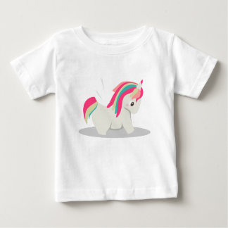 Cute chubby unicorn chibi blushing baby T-Shirt