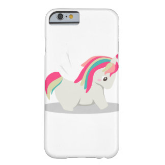 Cute chubby unicorn chibi blushing barely there iPhone 6 case