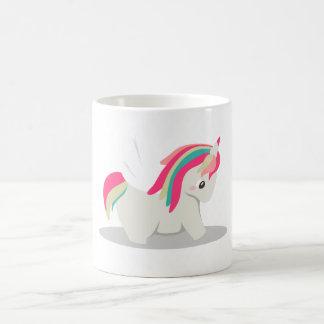 Cute chubby unicorn chibi blushing coffee mug