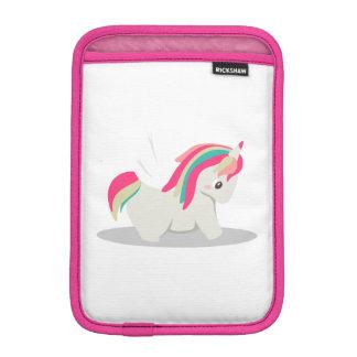 Cute chubby unicorn chibi blushing iPad mini sleeve