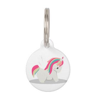Cute chubby unicorn chibi blushing pet name tag