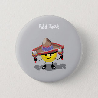 Cute Cinco De Mayo cartoon personalized 6 Cm Round Badge