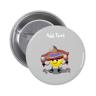 Cute Cinco De Mayo cartoon personalized 6 Cm Round Badge