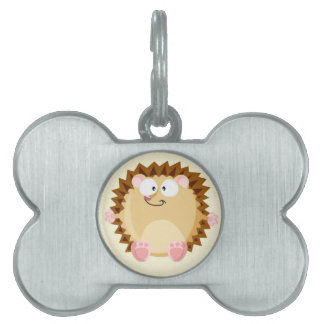 Cute circle Hedgehog Pet Tag