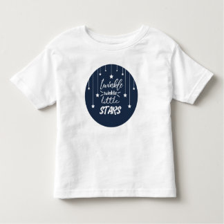 Cute Circle Twinkle Twinkle Little Star Lyric Toddler T-Shirt