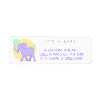 Cute Circus | Baby Adorable Unisex Personalized Return Address Label