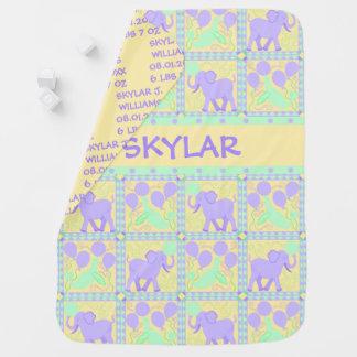 Cute Circus | Baby Elephant Keepsake Reversible Baby Blanket
