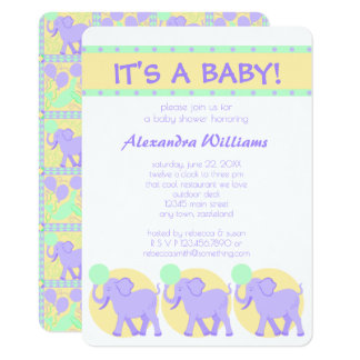 Cute Circus | Baby Shower Its A Baby Adorable Card