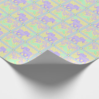 Cute Circus   Baby Shower Pattern Personalized Wrapping Paper