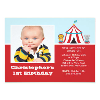 CUTE Circus Kids Birthday Party Invitation PHOTO