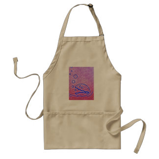 Cute Clam Shell Under the Sea Blue Purple Standard Apron