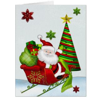 Cute Classic Santa Whimsey CUSTOM ALL SIZES Card