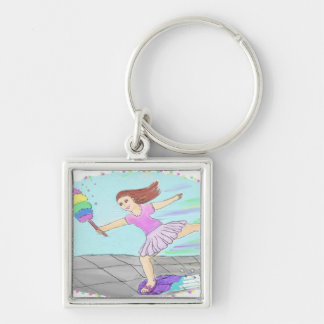 Cute Cleaning Lady Keychain