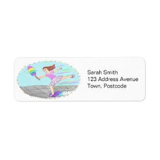 Cute Cleaning Lady Return Address Label