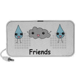 Cute Cloud and Raindrop Friends iPhone Speakers