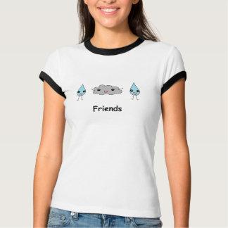 Cute Cloud and Raindrop Friends T-Shirt
