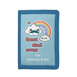 Cute Cloud Dad Tri-fold Wallets