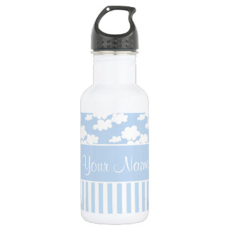 Cute Clouds and Stripes 532 Ml Water Bottle