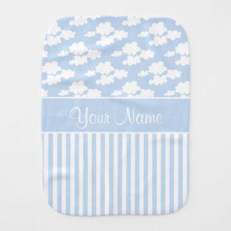 Cute Clouds and Stripes Burp Cloth