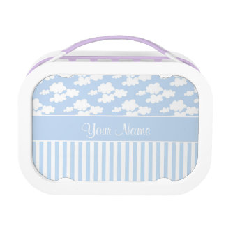 Cute Clouds and Stripes Lunch Box