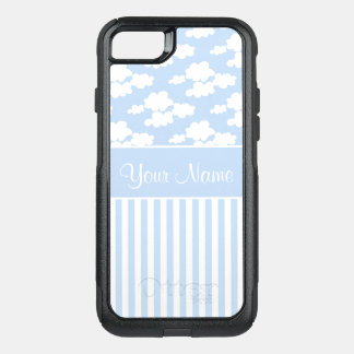 Cute Clouds and Stripes OtterBox Commuter iPhone 8/7 Case