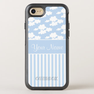 Cute Clouds and Stripes OtterBox Symmetry iPhone 8/7 Case