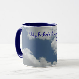 Cute Clouds Photo Print Bible Verse Blue Mug