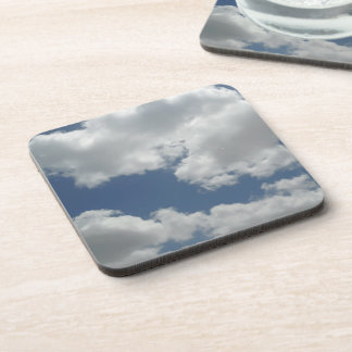 Cute Clouds Photo Print Coaster
