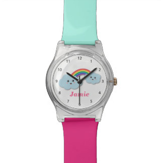 Cute Clouds with Rainbow, for Little ones Watch