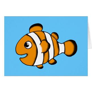 cute clown fish card