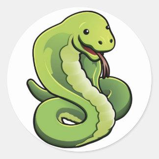 Cute cobra snake sticker