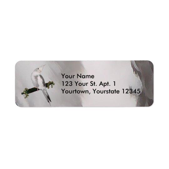 Cute Cockatiel Address Label