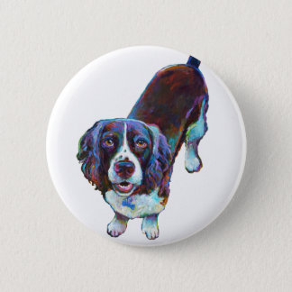 Cute Cocker Spaniel by Robert Phelps 6 Cm Round Badge