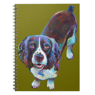 Cute Cocker Spaniel by Robert Phelps Spiral Notebook