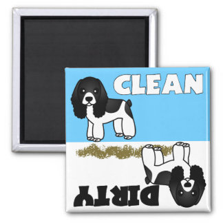 Cute Cocker Spaniel Clean Dirty Dishwasher Magnet