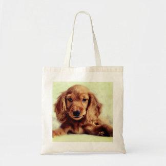 Cute Cocker Spaniel Puppy Dog Tote Bag